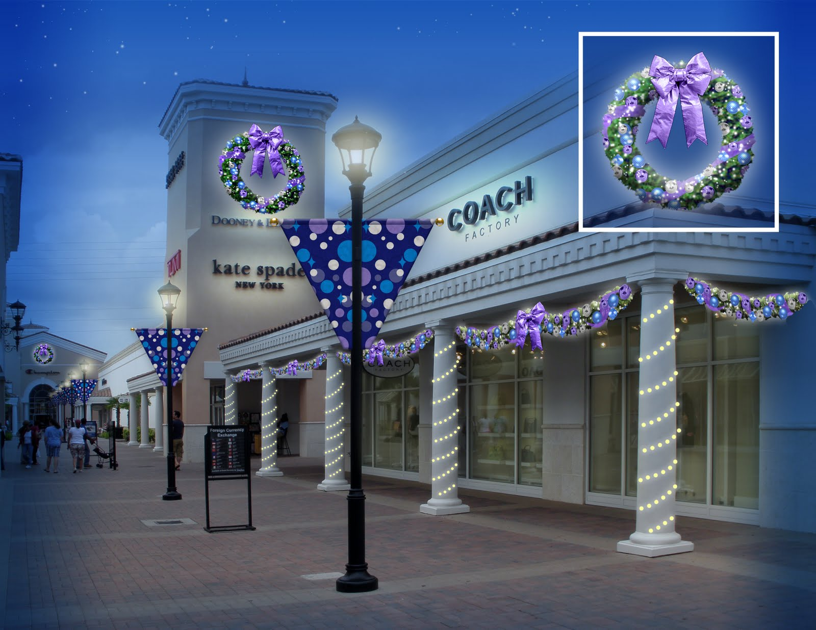 downtown decorations, inc: lifestyle center commercial christmas