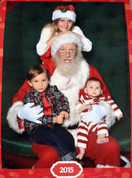 Cousins With for Santa