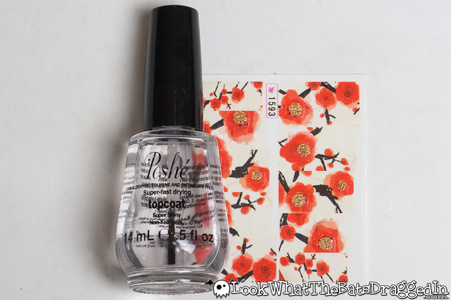 Review of BornPrettyStore cherry blossom nail art water decals