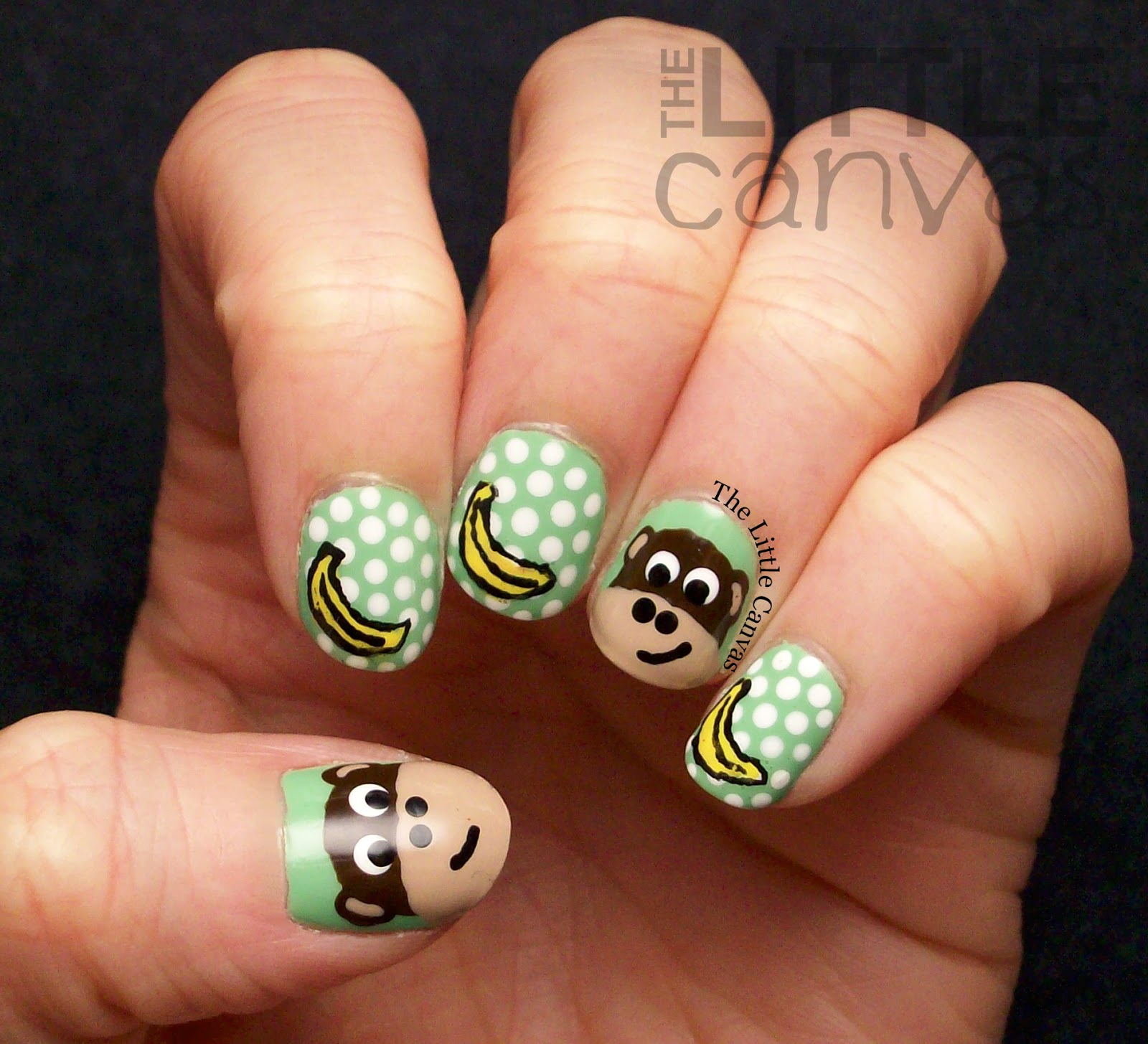 Little Google1 Nail Art: The Manicured Monkey: Guest Post: The Little Canvas