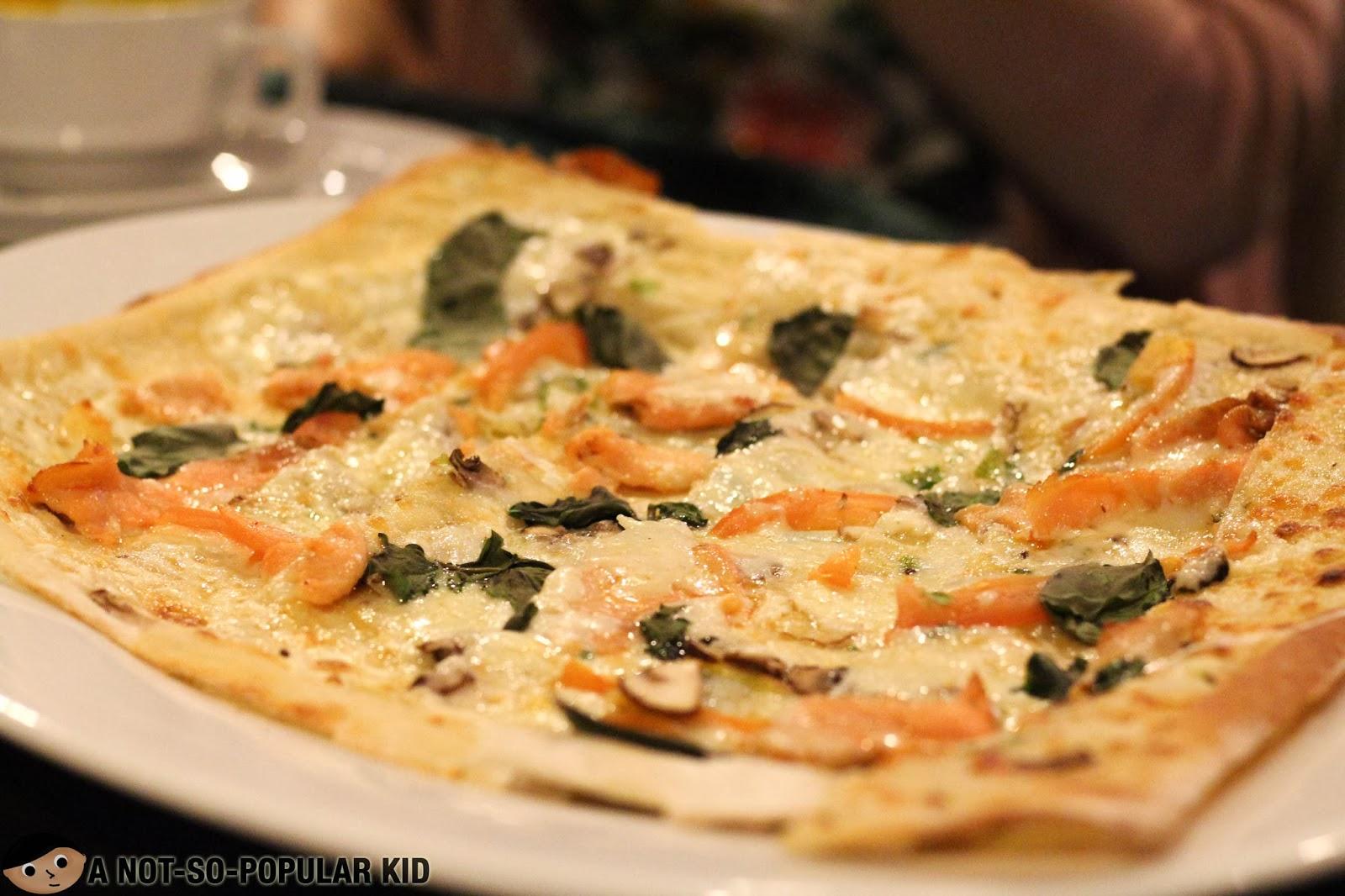 The Original Antonio pizza of My Kitchen - smoked salmon!