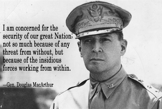 La lucidité du Général  Douglas Mac Arthur <[cliquer]>