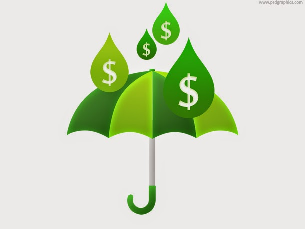 Money Rain and Umbrella PSD