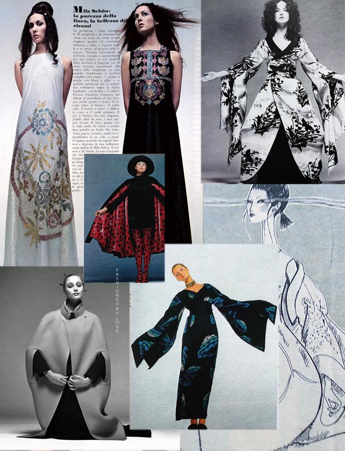 Mila Schon Oriental-inspired designs in fashion editorials via www.fashionedbylove.co.uk