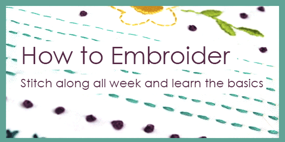 How to embroider stitch a long jennifer jangles