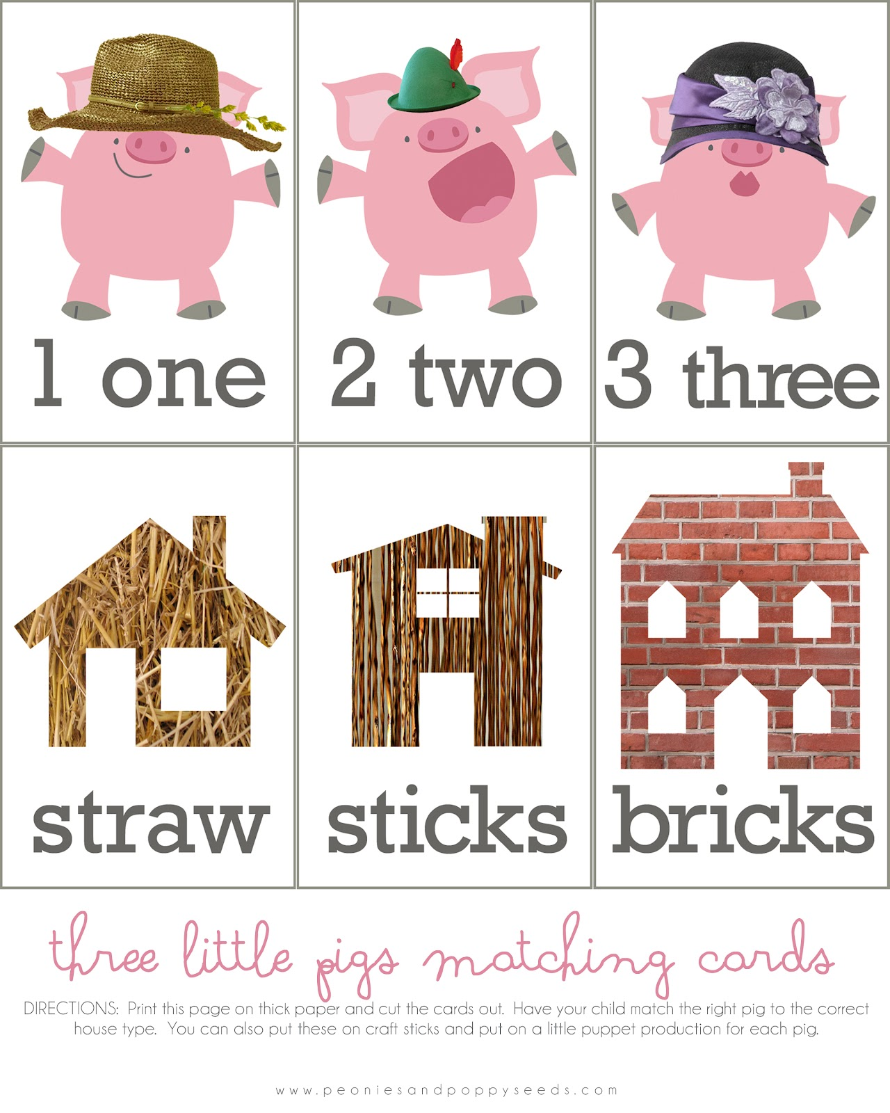 Image Three Little Pigs Story Printable Download