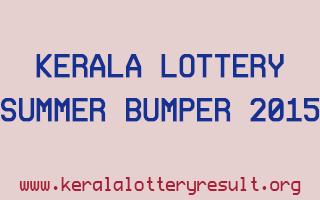 Summer Bumper 2015 BR-42 Kerala Lottery