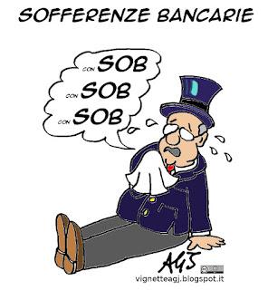 Banche, sofferenze bancarie, consob, controlli, finanza, economia, vignetta satira