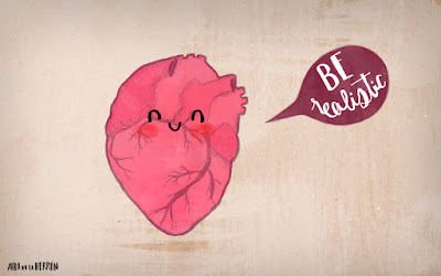 Be realistic heart illustration cute