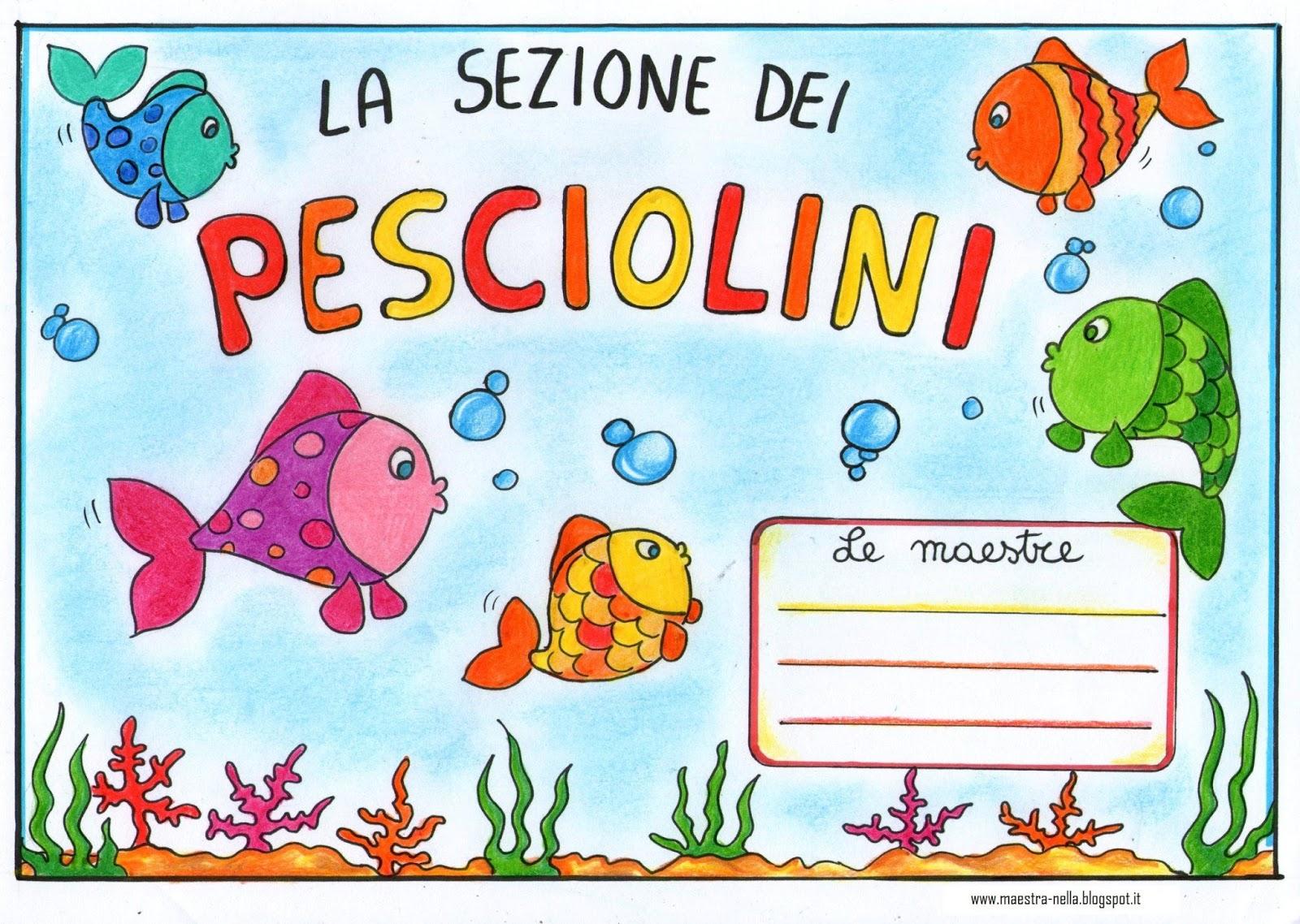 Per la porta della sezione cuccioli pesciolini for Disegni da colorare pesciolini