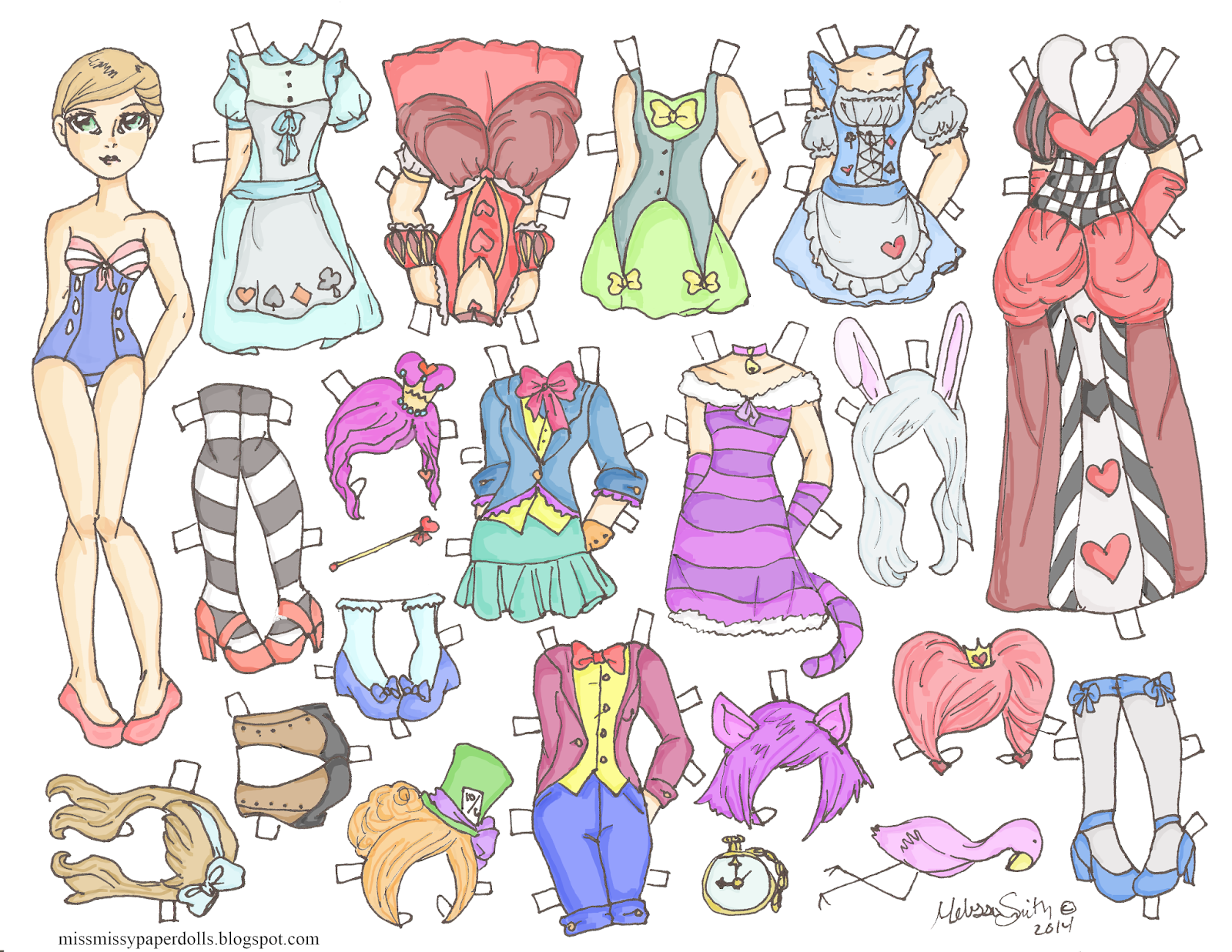 Miss Missy Paper Dolls: October 2014