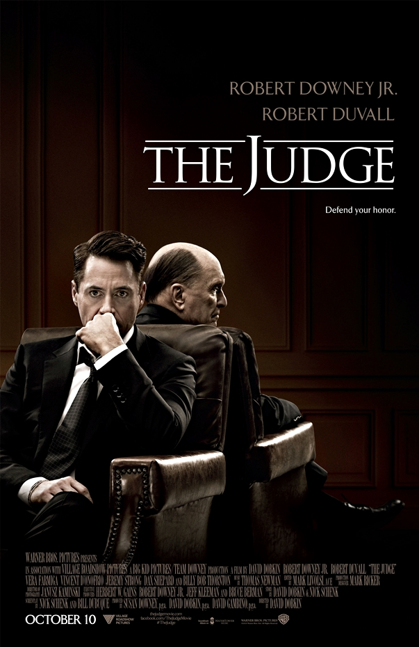 Póster El juez (The Judge, 2014), dirigida por David Dobkin.