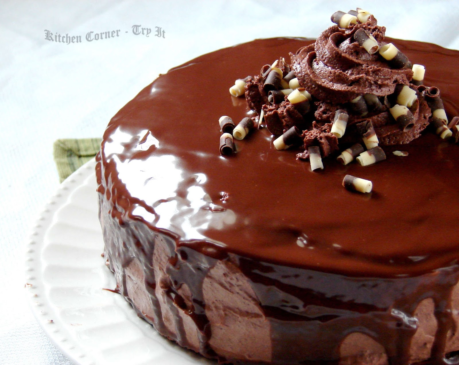 Cake With Chocolate Mousse : Kitchen Corner-Try It: Chocolate Mousse Cake With Ganache ...