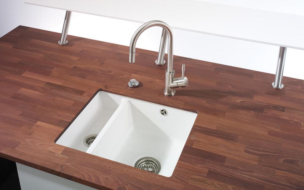 Encimeras de madera apostando por lo natural cocinas - Encimeras de madera para banos ...