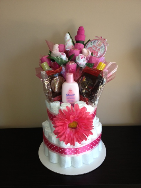 Bloomin Delicious Candy Bouquets: Diaper Cake Bouquet