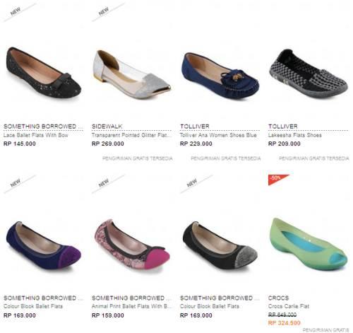Jual Sepatu Templek Flat Wanita Terbaru