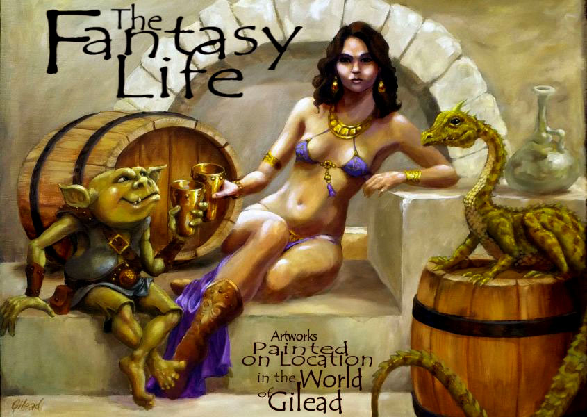 Fantasy Art by Gilead Drawings Paintings and Coloring Books