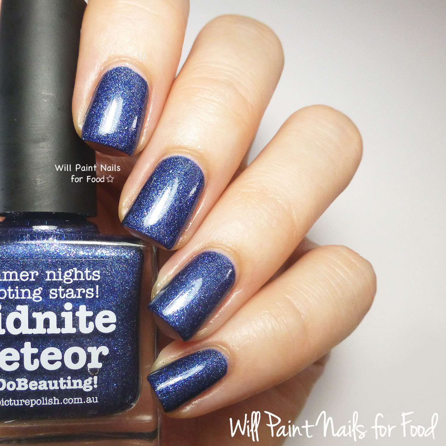 piCture pOlish Midnite Meteor swatch
