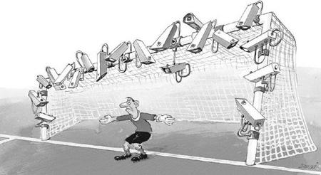 tranh biếm họa bóng đá