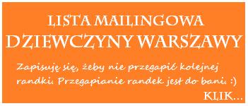 Zapisy na liste mailingowa Dziewczyny Warszawy