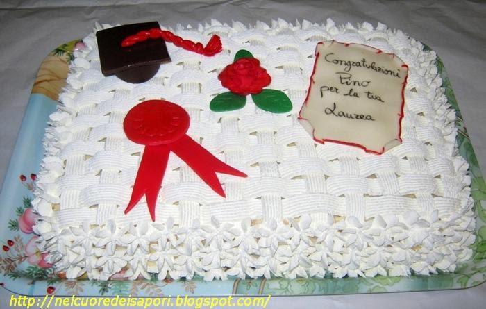 Nel cuore dei sapori 2 torta per laurea for Decorazioni per torte di laurea