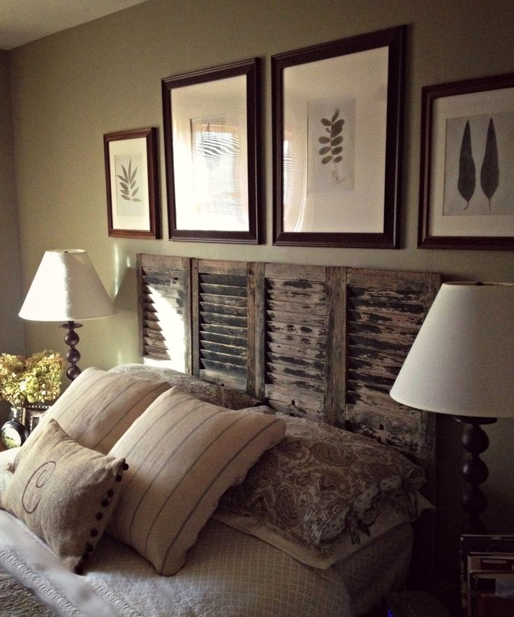 place to share my stuff turn shutters into beautiful headboards