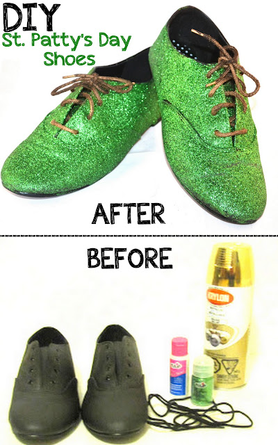 glitter, shoes, flats, diy, project, craftt, st patricks day, st pattys, pattys, green glitter, gold laces, lepachaun shoes, lepachaun, st pattys diy, best diy, fashion, style, blogger, fashion blogger, diy blogger