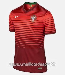 Le maillot du Portugal de la Coupe du monde 2014