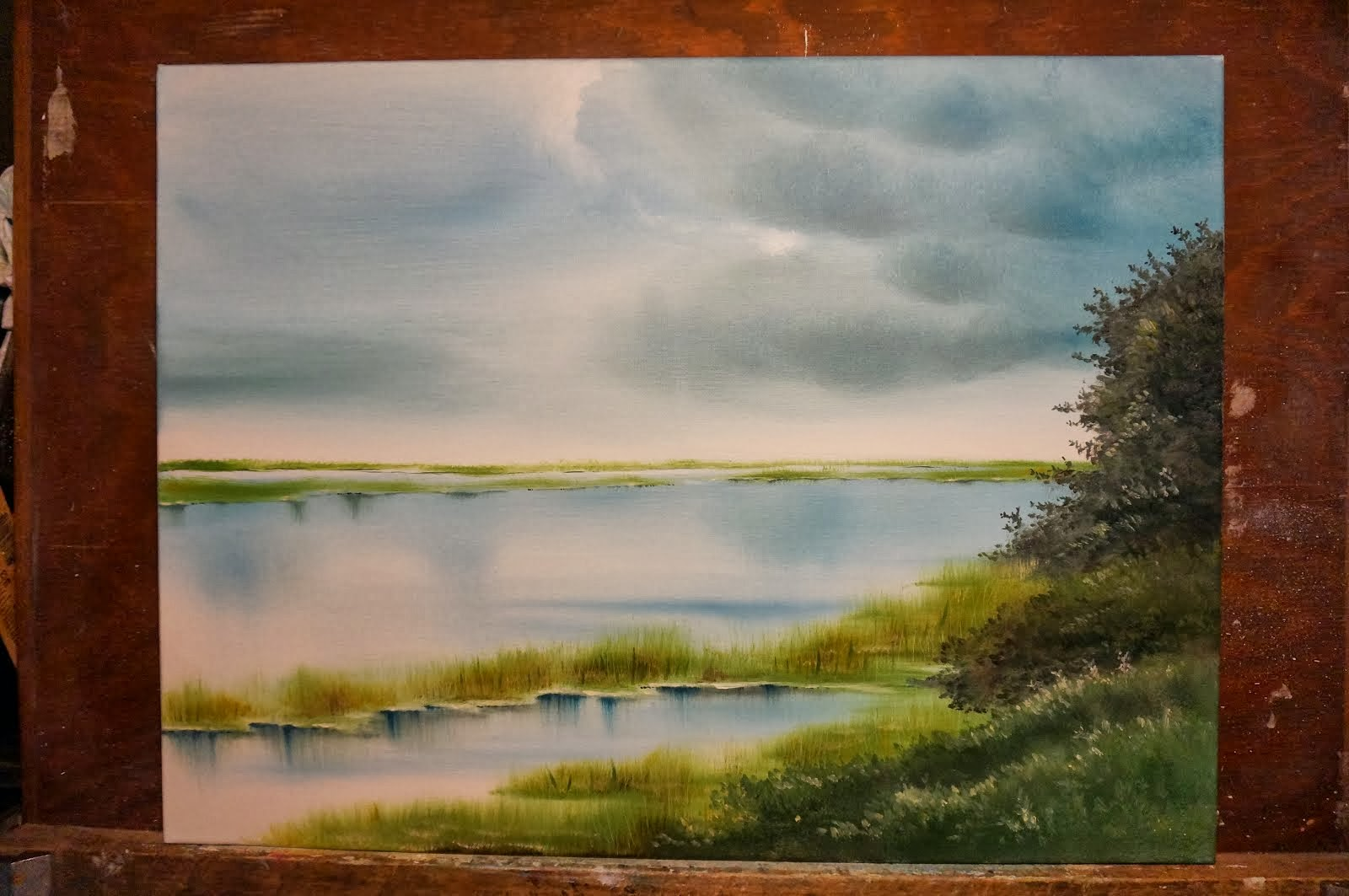 Oil on Canvas/Marsh at St. Simons Island, GA