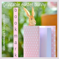 printable bunny bookmark