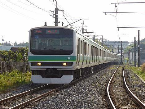 早朝2本だけのレア表示!「上野東京ライン 常磐・東海道線直通」のE231系