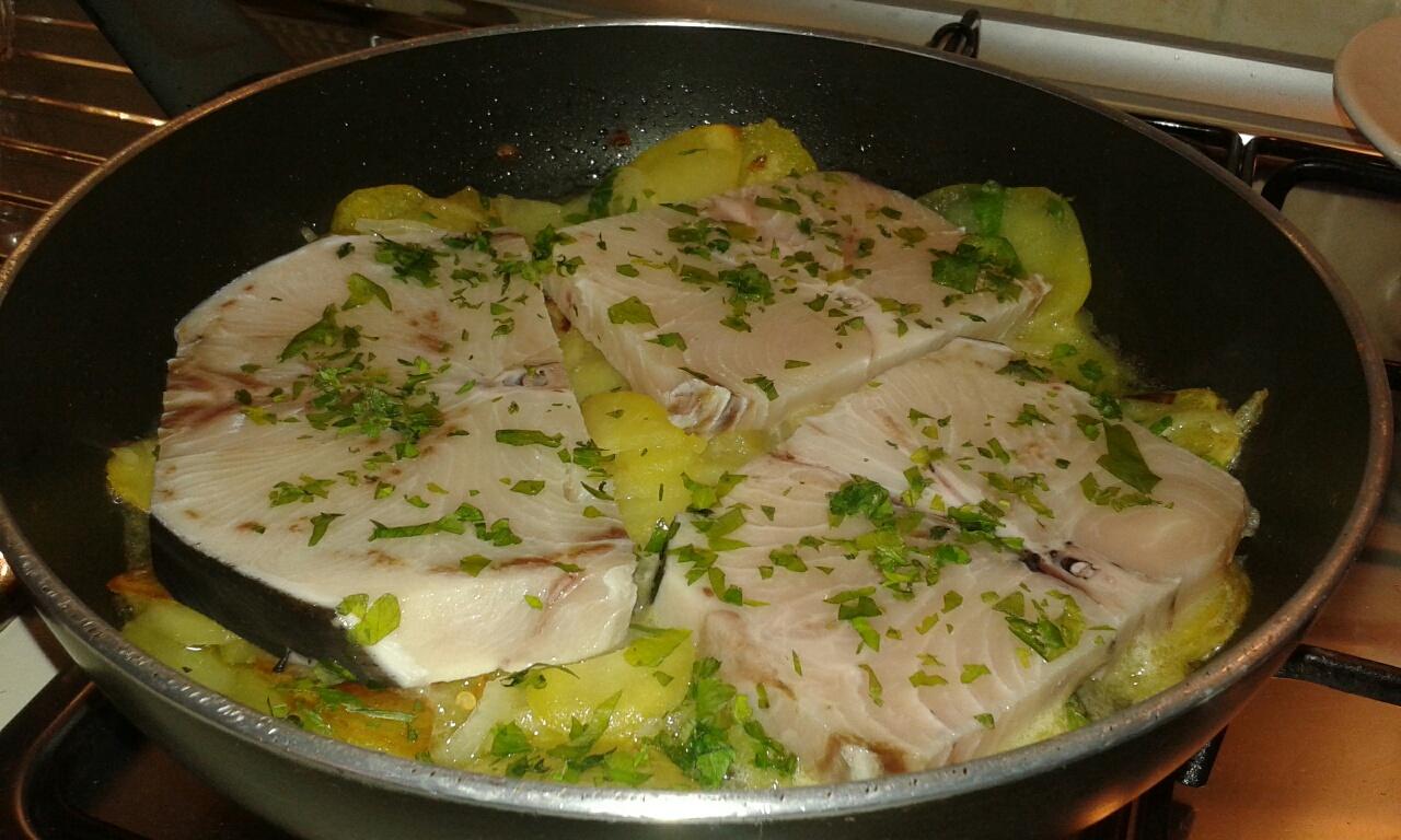 Pesce spada con patate 'by emi'