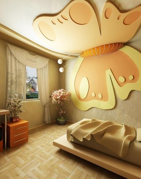 Modern bedroom ceiling designs collection 2 for Decoration ba13