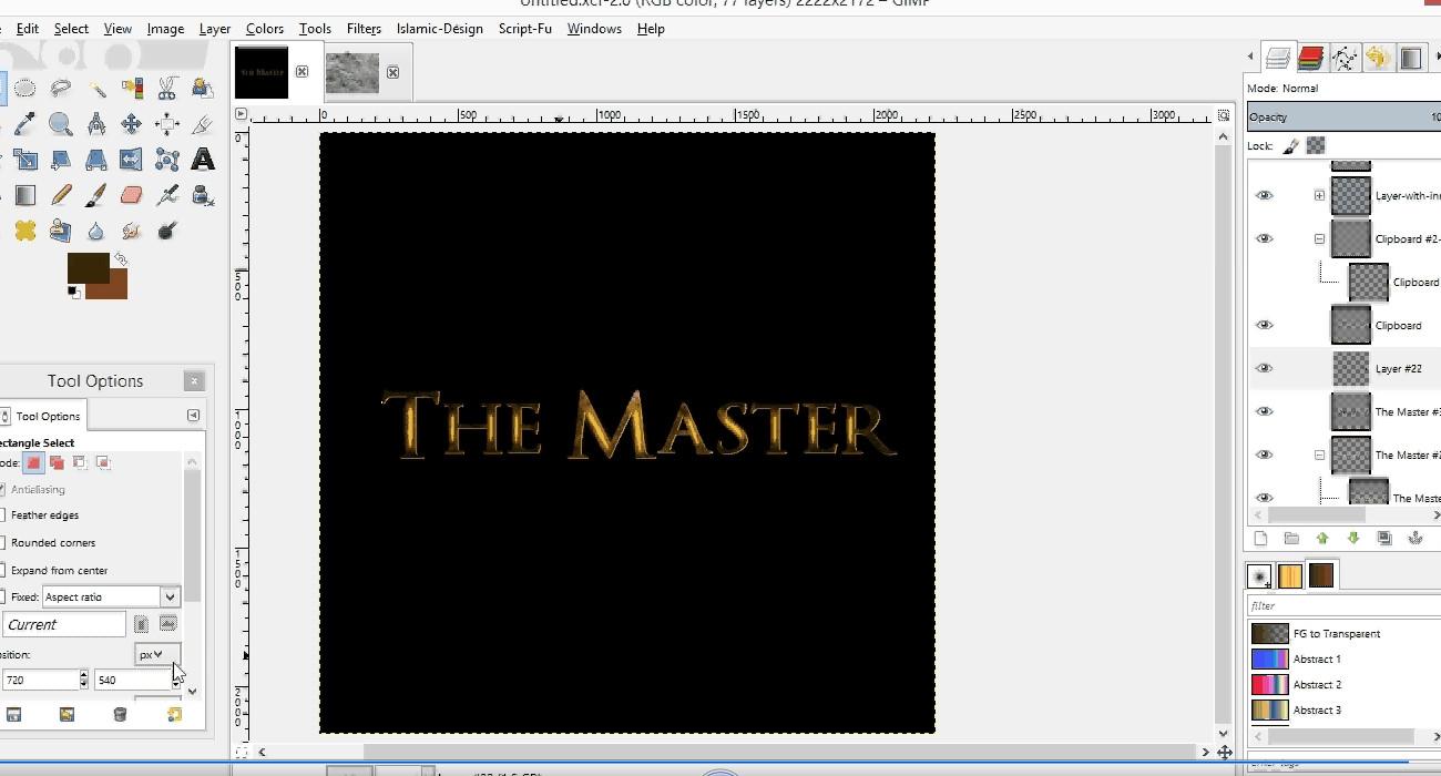 Cara Membuat Efek Cahaya pada Tulisan Menggunakan GIMP