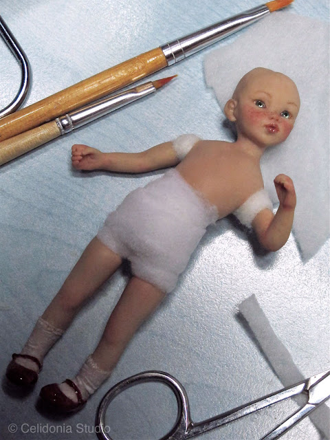 ooak doll work in progress