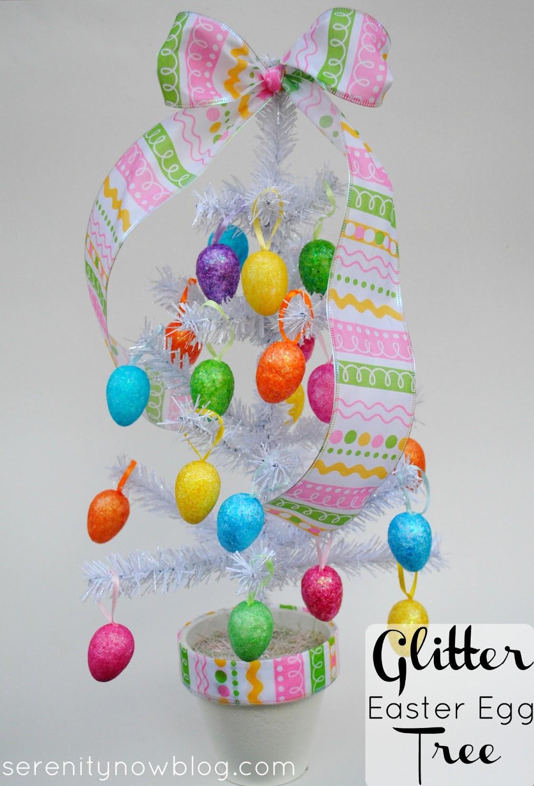 Serenity Now Glitter Easter Egg Tree Easter Decoration