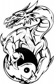 Motif Tato Naga Hitam Putih 29