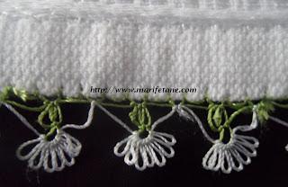 iğne oyası havlu kenarı modeli