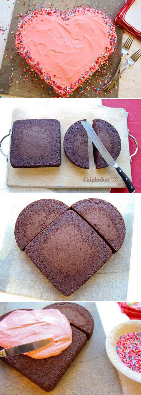 how to make a heart shaped cake so simple so clever