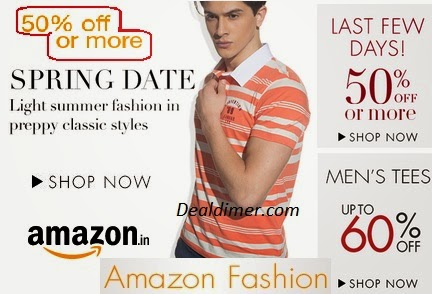 Men's Clothing upto 60% off + Extra 30% off Coupon; buy from Rs. 66 – Amazon
