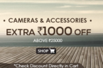 Get Extra Rs. 1000 off on cameras and Accessories of Rs. 25000 on Snapdeal