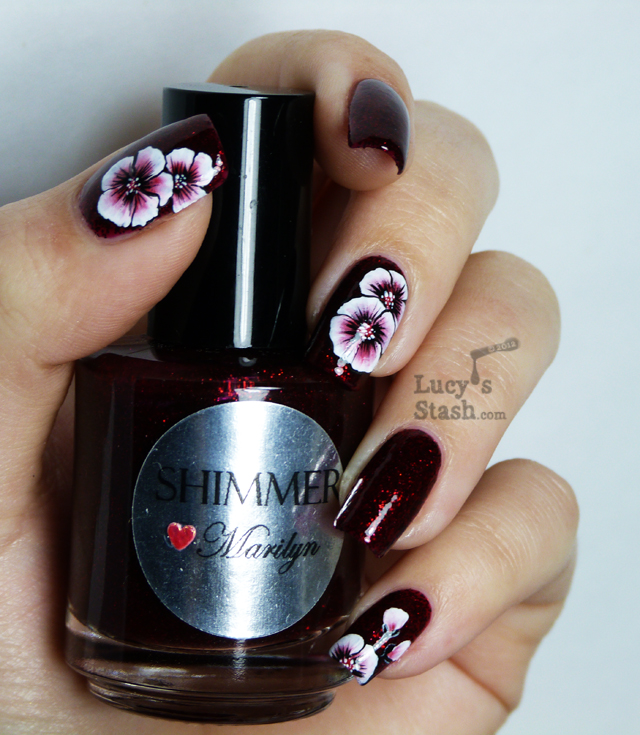 Lucy's Stash - One stroke nail art flowers