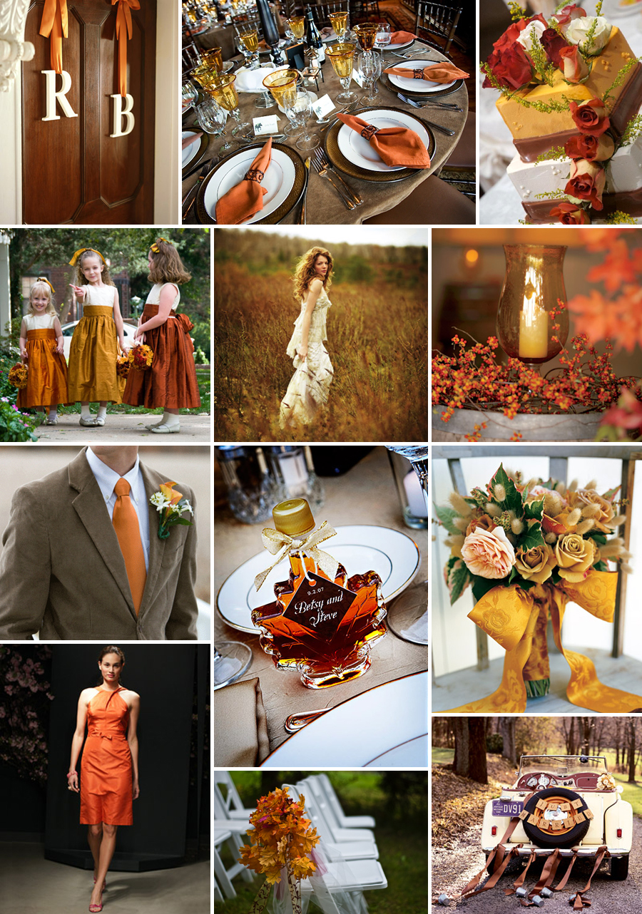 Bridal basics fall wedding reception decorating idea for Autumn wedding decoration ideas