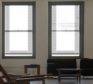 Greek Key Window Covering