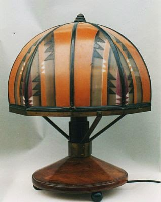 Amsterdam School lamp