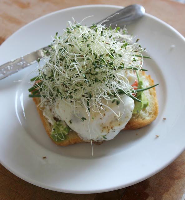breakfast sandwich, french tartine, french breakfast tartine, breakfast tartine