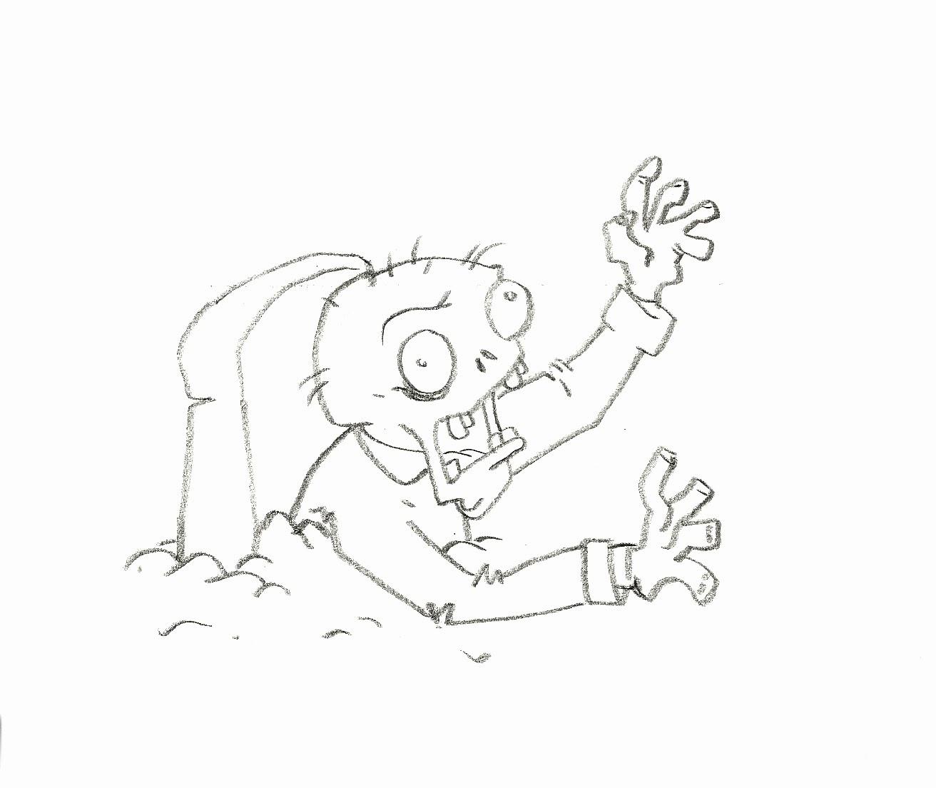 Frikaditas Gaditanas: Dibujo de Zombie de Plants vs Zombies