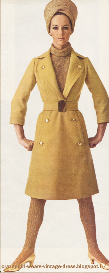 Party coat  gold , 1966 60s 1960  Jacques Heim