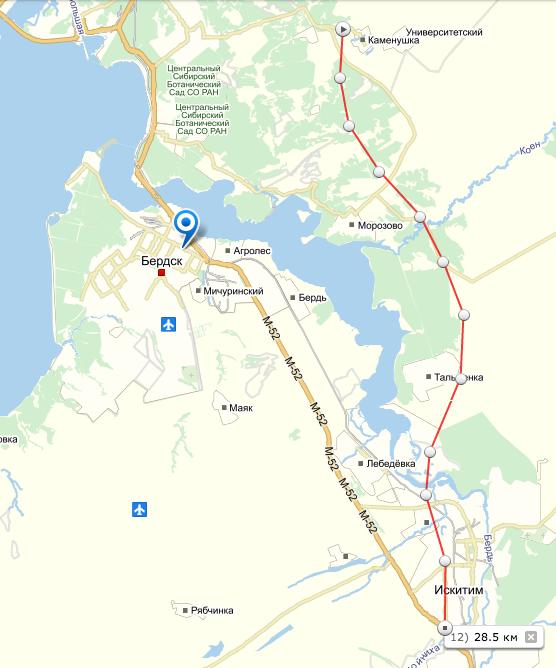 Схема транспортной магистрали