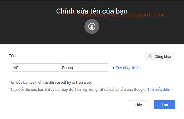 Hướng dẫn cách đổi tên tài khoản Google Plus G+